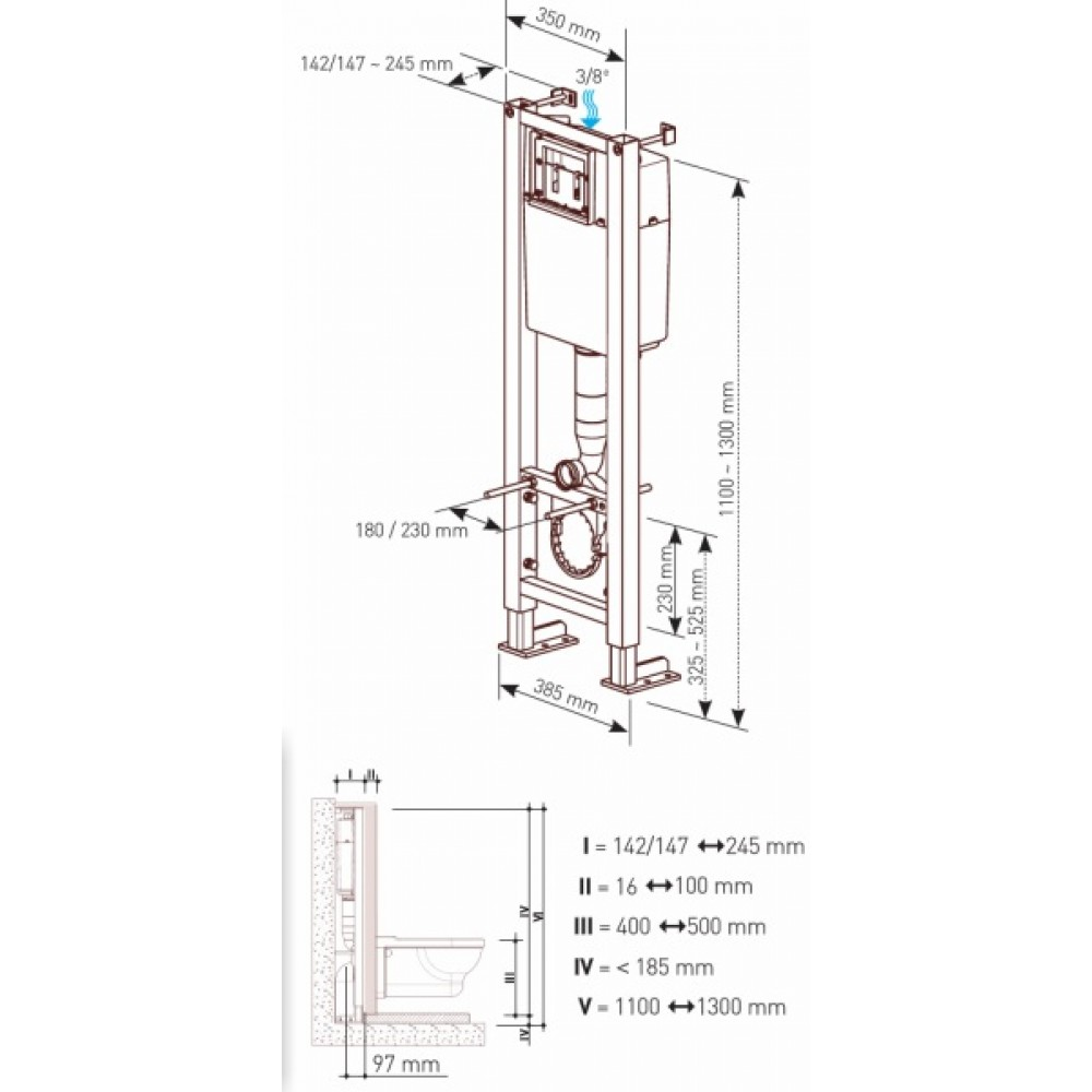 b ti support universel bcu verso 350 avec plaque de commande bricozor. Black Bedroom Furniture Sets. Home Design Ideas