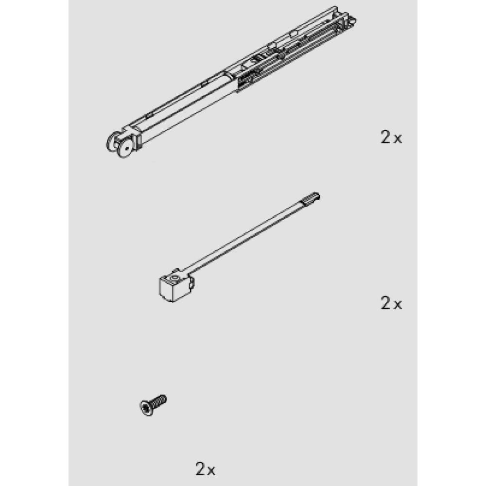 amortisseur pour porte coulissante clipo 16 h ou 16 gpk eku bricozor. Black Bedroom Furniture Sets. Home Design Ideas