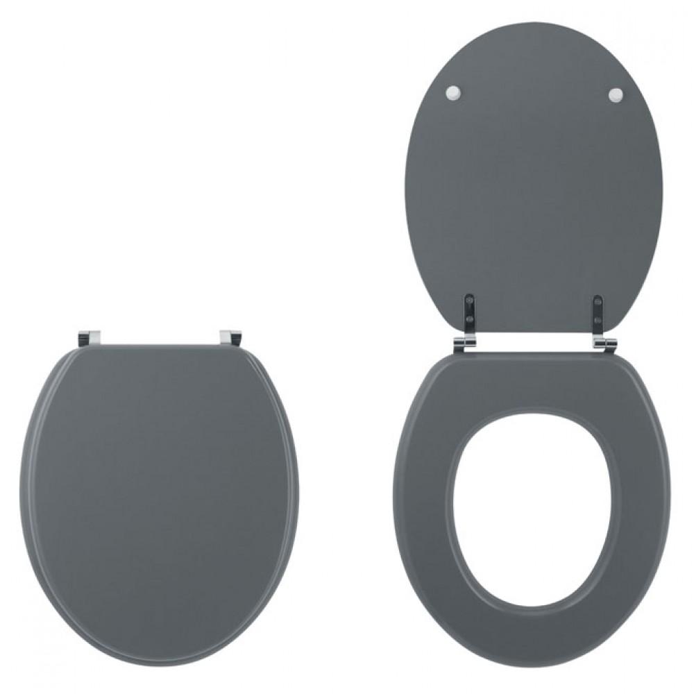 abattant wc sur cuvette standard gris clair color line wirquin pro bricozor. Black Bedroom Furniture Sets. Home Design Ideas