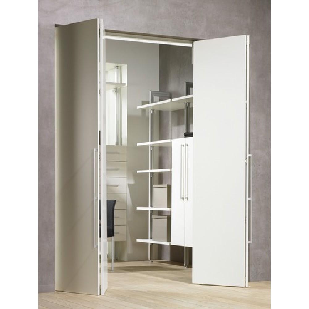 syst me porte coulissante pliante wingline 230 vantail 25 kg bricozor. Black Bedroom Furniture Sets. Home Design Ideas