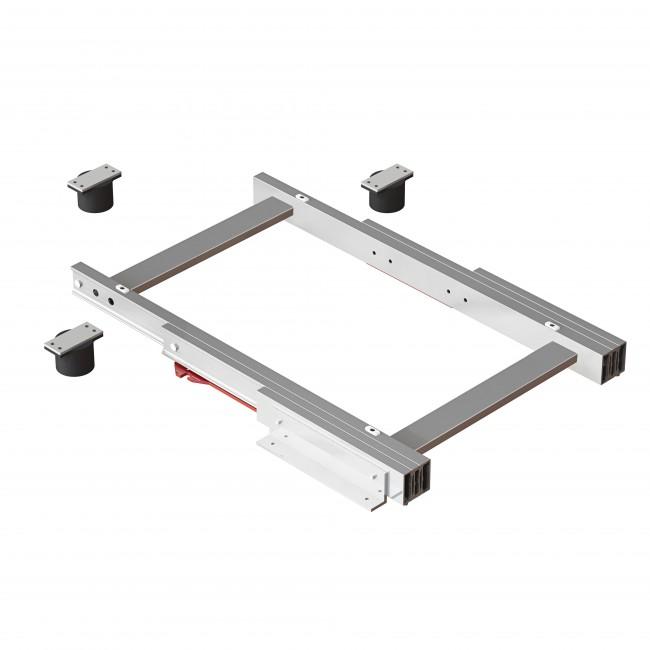 Coulisses pour plateau coulissant - table d'appoint - Corner 900x900 EMUCA