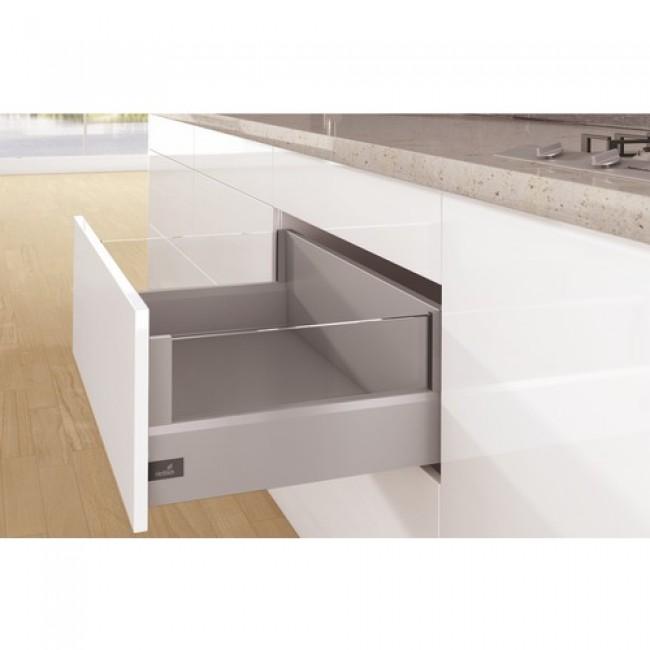 Kit tiroir DesignSide ArciTech-profil H126-dos H250mm-argent HETTICH
