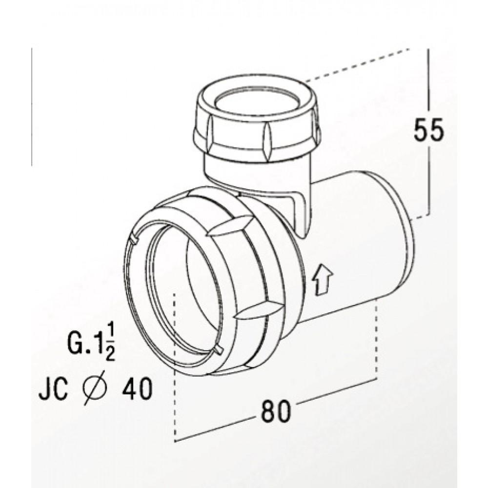 Soupape anti vide diam tre 40 mm montage rapide sans outils nicoll bricozor - Soupape anti vide ...