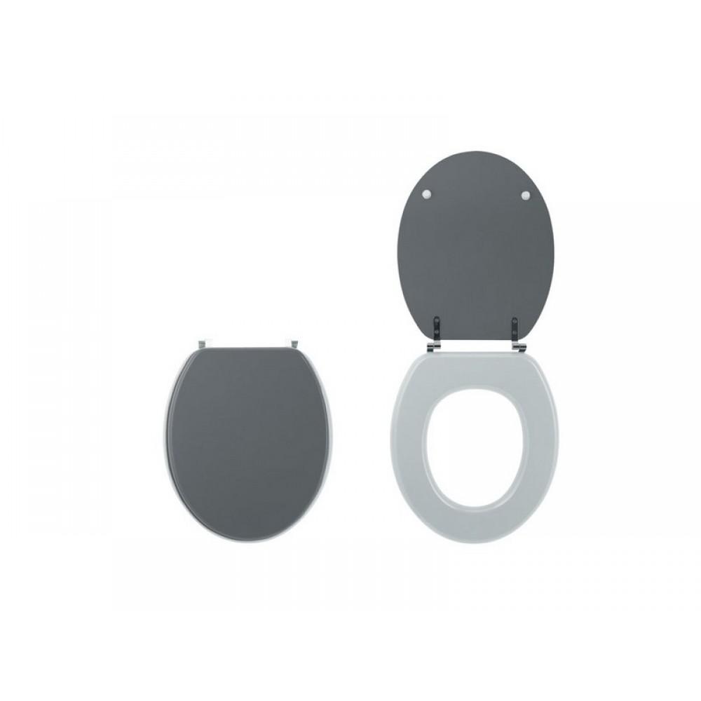 abattant wc sur cuvette standard gris anthracite bi color colorline wirquin pro bricozor. Black Bedroom Furniture Sets. Home Design Ideas