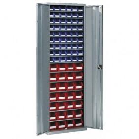 Armoire d'atelier métallique - 15 étagères - 82 bacs SCHAEFER