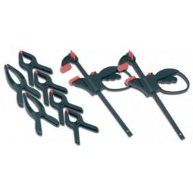 Kit de serrage mini presse et serre joints - 8 pièces MAXICRAFT