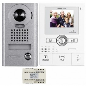 Interphone video JKS1ADV mains libres à fil, pose en applique, kit complet