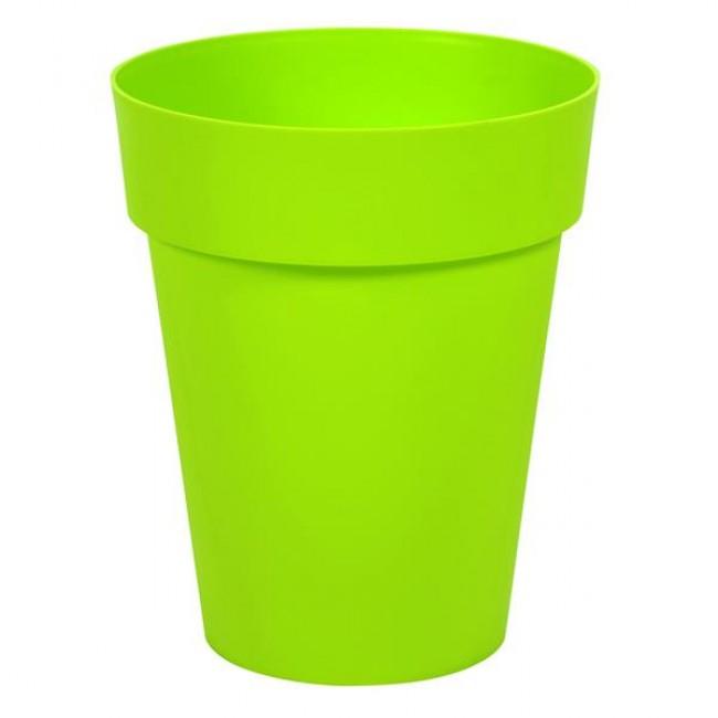 Pot rond mi-haut 44 cm pistache - 50 litres - Toscane 13629 EDA PLASTIQUES