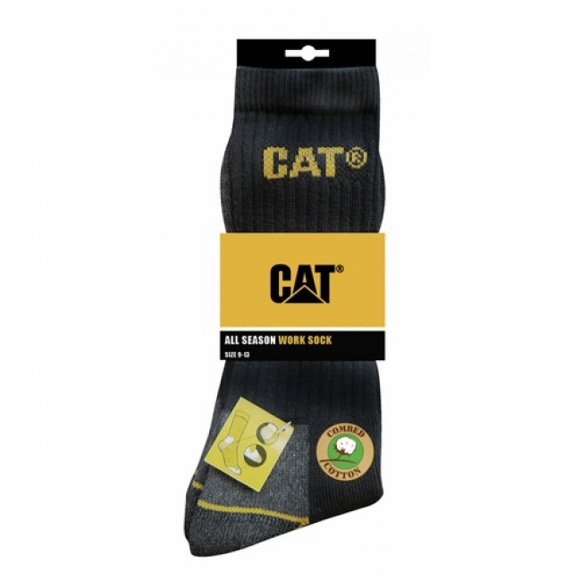 Lot de 3 paires de chaussettes noires - pointure 41 à 45 Caterpillar