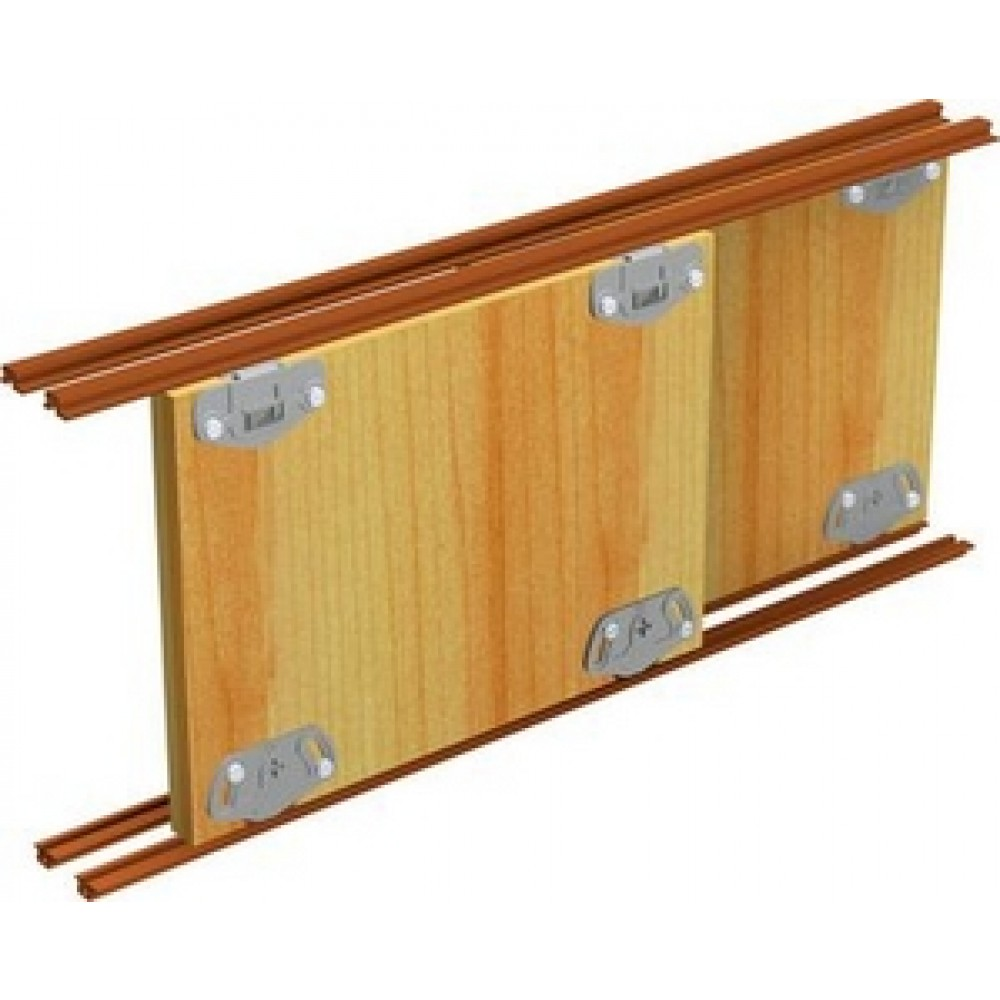 Syst me de porte coulissante de meuble pico 25 vantail 25 kg mantion bricozor - Rail porte coulissante castorama ...