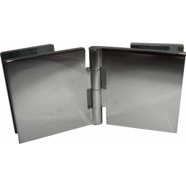 Charnières à contre-plaque verre/verre-40x40 mm MOD