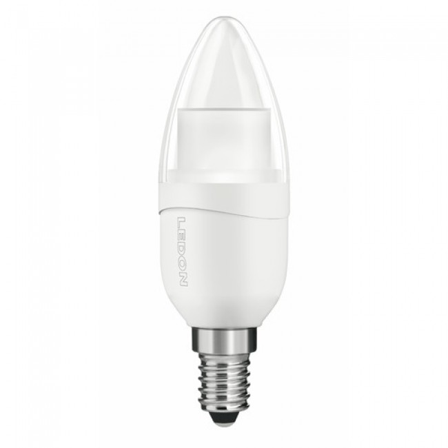 Lampe LED dimmable - flamme - culot E14 - 6 watts - Candlelight