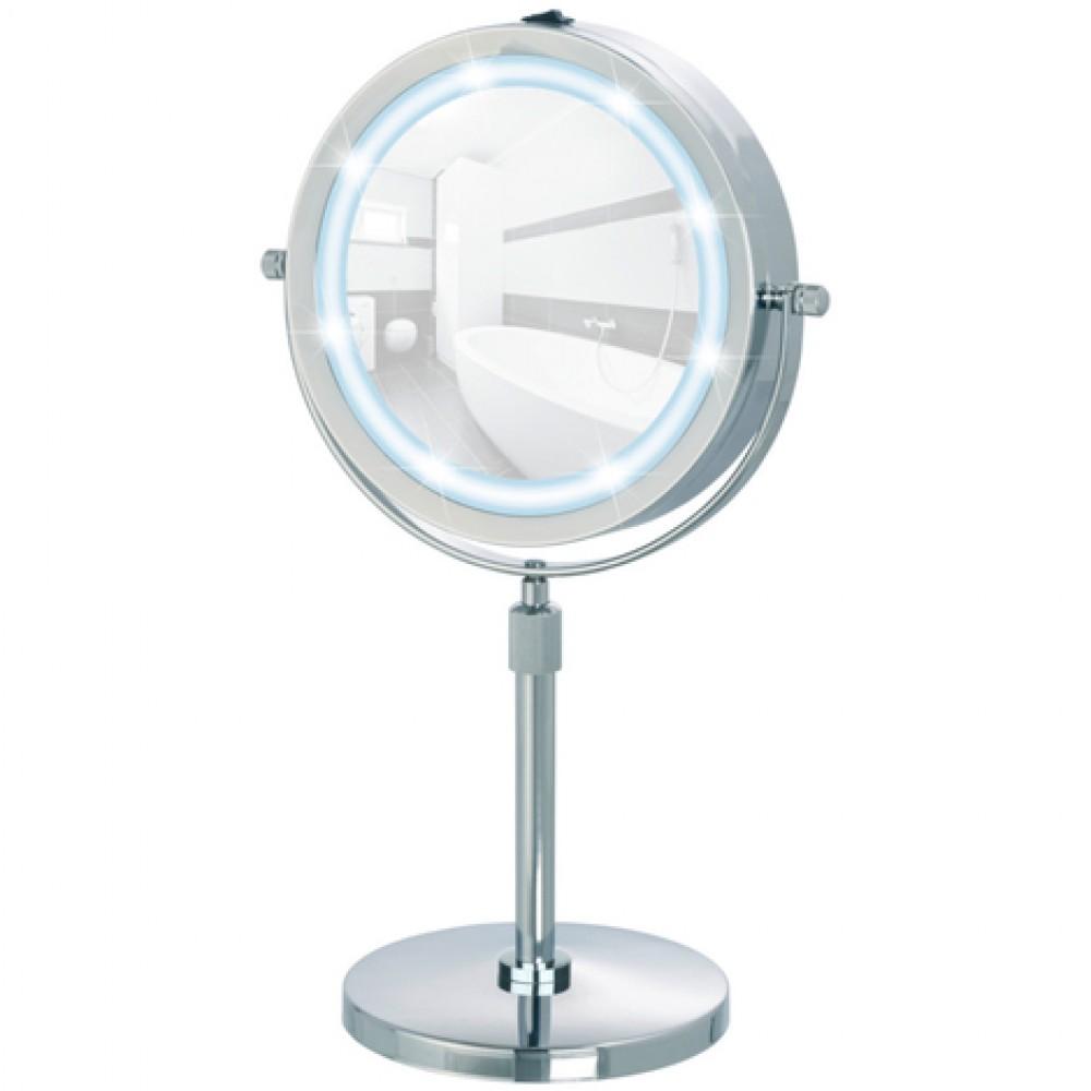 Miroir grossissant x5 - à pied - avec lumière LED WENKO | Bricozor