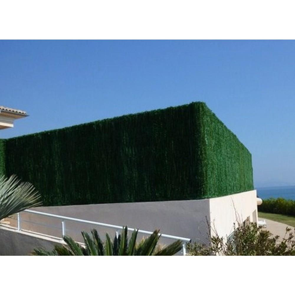 haie artificielle brise vue 126 brins vert thuyas. Black Bedroom Furniture Sets. Home Design Ideas