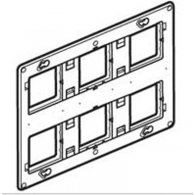 Support à vis Batibox - 2x3 postes - 2x6 ou 2x8 modules LEGRAND