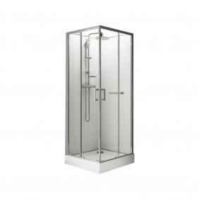 Cabine de douche carrée à portes coulissantes Kara -90x90cm LEDA