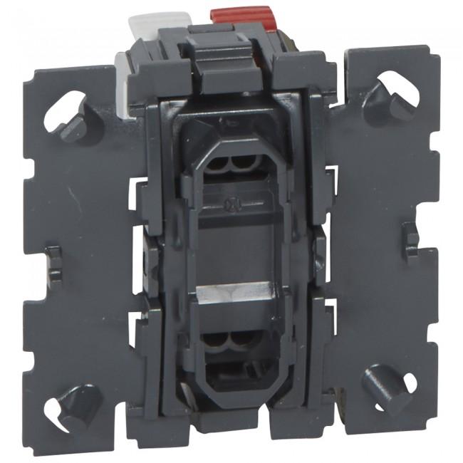 Interrupteur poussoir inverseur - 6 ampères - contact NO-NF - Céliane LEGRAND