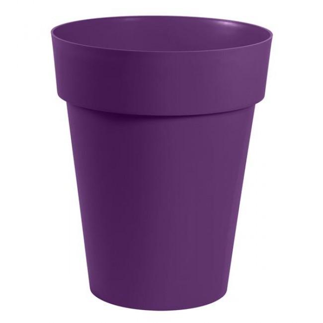 Pot rond mi-haut 44 cm prune - 50 litres - Toscane 13629 EDA PLASTIQUES