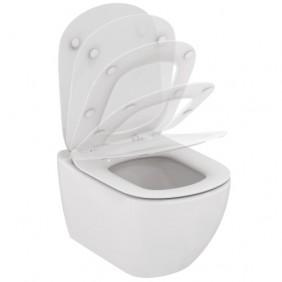 Cuvette WC suspendue - avec abattant frein de chute - Tesi AquaBlade PORCHER