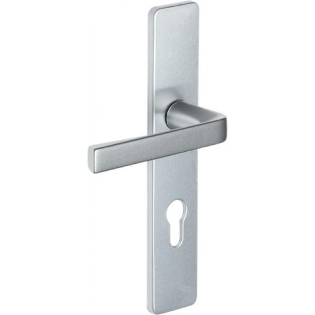 Poignées de porte sur plaques - aluminium - Kaza VACHETTE