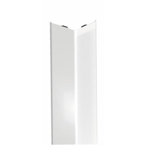 Cornières adhésives acier revêtu PVC blanc 3m