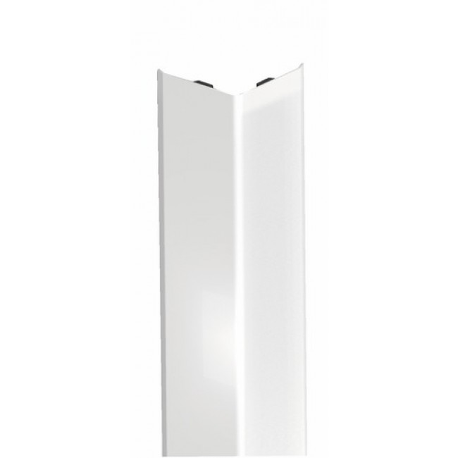 Cornière adhésive de protection d'angle - acier revêtu PVC blanc DINAC