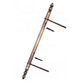 Fiche à lacet dégondable - en acier vieux bronze - diamètre 13 mm BROS