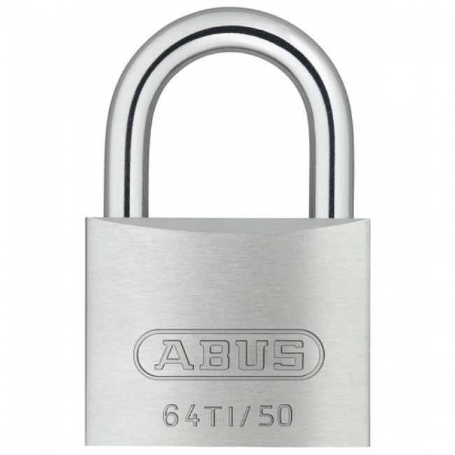 Cadenas à clé s'entrouvrant - anse cémentée - corps Titalium - 64TI KA ABUS
