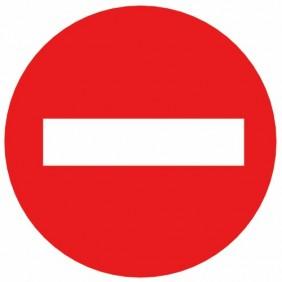 Disque d'interdiction rouge - norme Afnor NOVAP