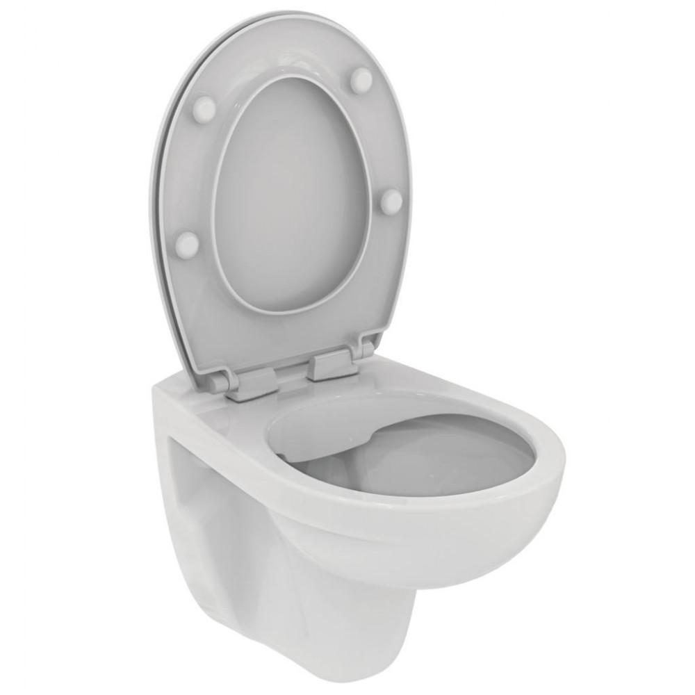 cuvette wc suspendue sans bride ulysse avec abattant. Black Bedroom Furniture Sets. Home Design Ideas