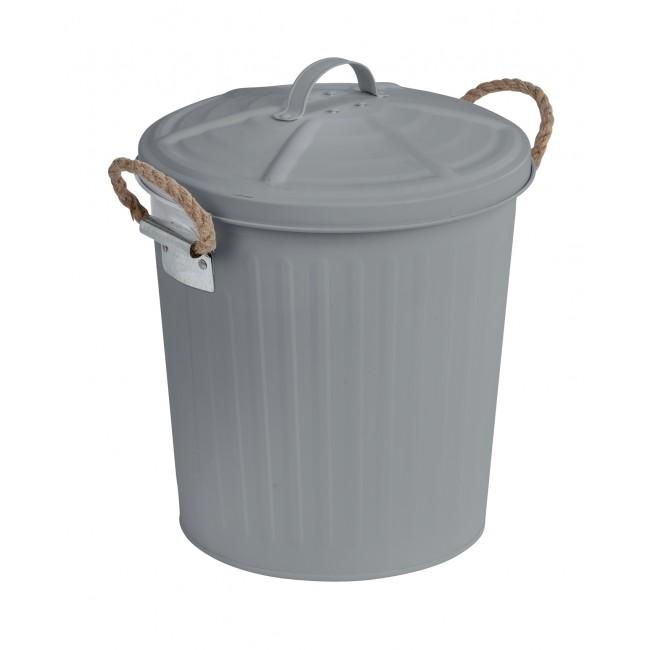 Poubelle avec couvercle à poignées - Gara - 6 litres - 2 coloris WENKO