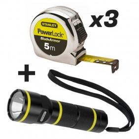 Lot 3 mètres déroulant Blade Armor + lampe torche FatMax 70 lumens offerte STANLEY