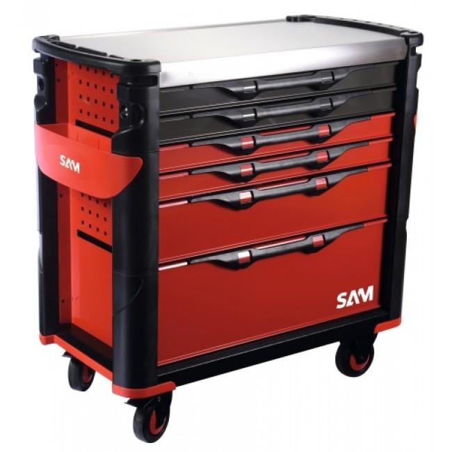 Servante XL - 6 tiroirs avec plateau inox - 416-AX-L SAM