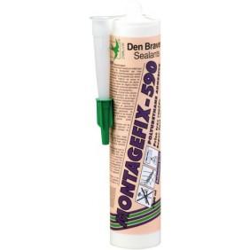 Colle polyuréthane - monocomposant - cartouche 300 ml - Montagefix 590 DEN BRAVEN