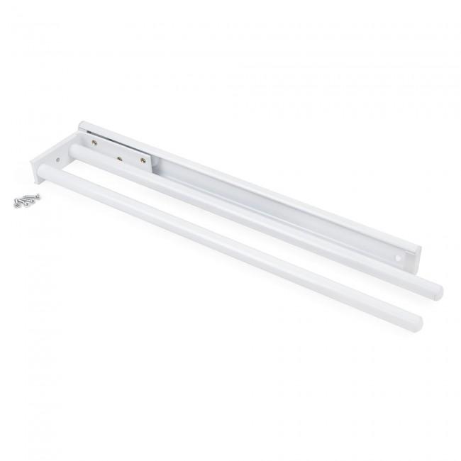Porte-serviettes extensible - 2 bras - aluminium EMUCA
