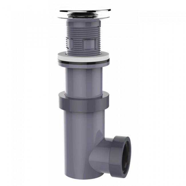 Vidage de lavabo en ABS chromé - ouverture par pression - Siphonette VALENTIN