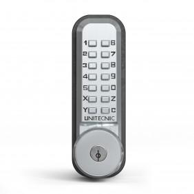Serrure à code mécanique - pêne verrou - à clé de secours - 2200CS UNITECNIC