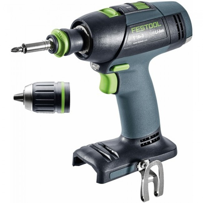 Perceuse visseuse sans fil 18 V T18+3 Li 5,2 Plus-sans batterie FESTOOL