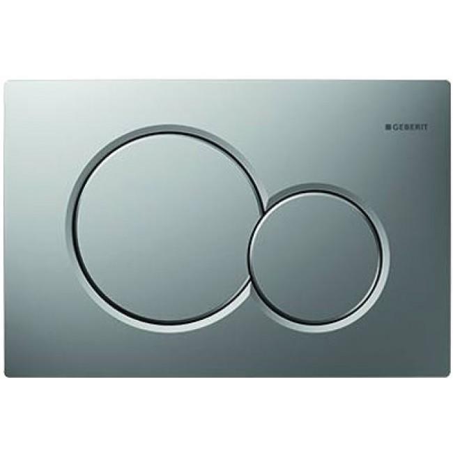 Plaque de commande double touche - Sigma 01 - chromé mat GEBERIT