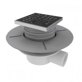 Bonde sortie verticale ou horizontale -receveur à carreler- Shower plate AURLANE
