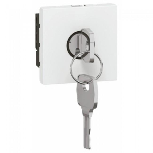 Interrupteur à clé pour BAES Mosaic - 2 modules - blanc LEGRAND