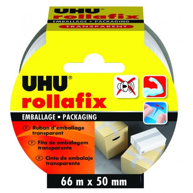 Ruban d'emballage Rollafix - longueur 66 m Uhu