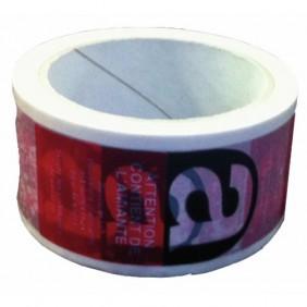 Adhésif imprimé amiante - largeur 50 mm - rouleau de 50 m BRICOZOR