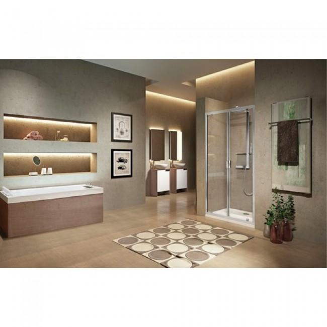 Portes de douche pivotantes - en niche ou en angle - 5mm - Lunes 2.0 B NOVELLINI