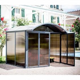 Abri de jardin en aluminium et polycarbonate - 3,0 x 2,4 m HABRITA