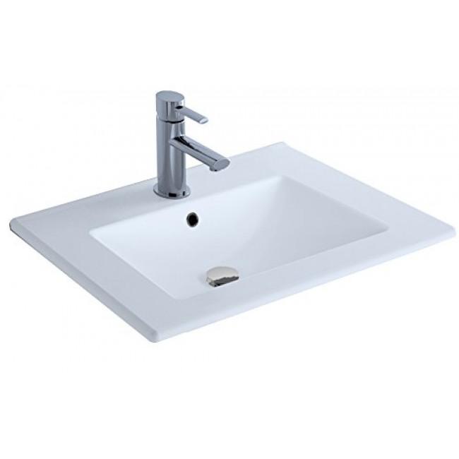 Plan vasque en céramique fine blanche -  Studio Kit Comfort CYGNUS BATH