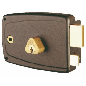 Serrure en applique horizontale - cylindre rond - Match JPM