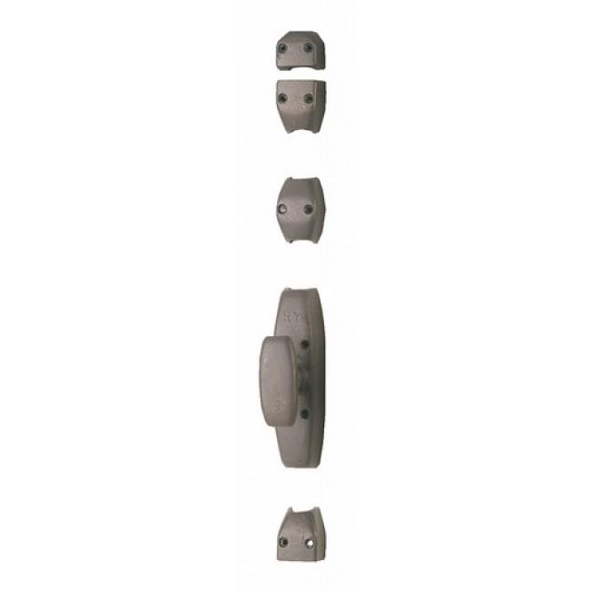 Crémone en applique en fonte pour porte cochère - RY 30 gris mat JARDINIER MASSARD
