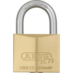 Cadenas à clé - laiton - anse cémentée - 5 clés réversibles - EC 75 ABUS