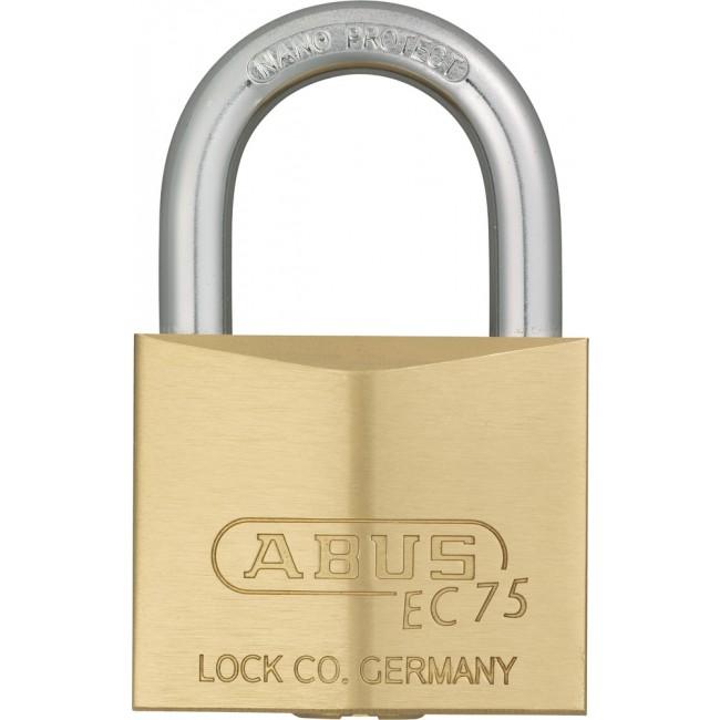 Cadenas à clé - laiton - anse cémentée - 5 clés réversibles -75/40 ABUS
